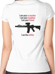 I am the Militia. Women's Fitted Scoop T-Shirt