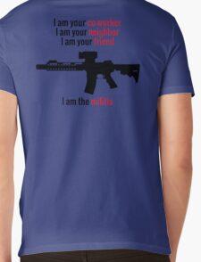 I am the Militia. Mens V-Neck T-Shirt