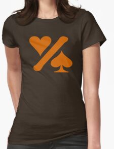 One% logo - orange Womens Fitted T-Shirt