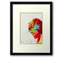 Paint Splatter Superheros: Iron Man Framed Print