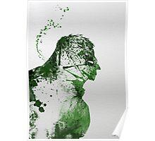 Paint Splatter Superheros: Hulk Poster