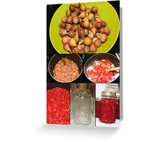 Strawberry Fig Preserves Greeting Card