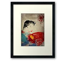 Paint Splatter Superheros: Superman Framed Print