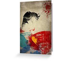 Paint Splatter Superheros: Superman Greeting Card