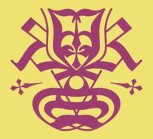 Typo Samurai - Purple Kids Clothes