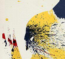 Paint Splatter Superheros: Wolverine by Arian Noveir