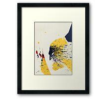Paint Splatter Superheros: Wolverine Framed Print