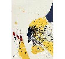 Paint Splatter Superheros: Wolverine Photographic Print