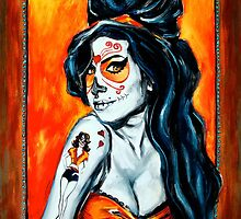 Amy Winehouse: Dia de Los Muertos by JGCahoonArtist