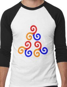 Alpha Omega Beta Colours Men's Baseball ¾ T-Shirt