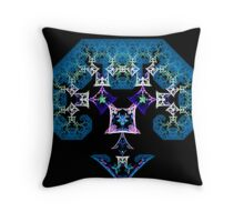 Blue-haired Lady Robot Throw Pillow