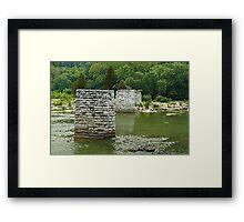 Bridge piers Framed Print