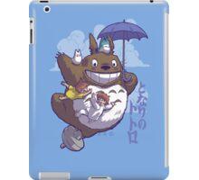 Totoro in Flight iPad Case/Skin