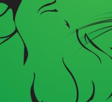 Green Lion Sticker