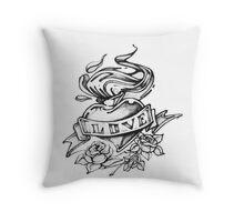 Love pencil drawn heart Throw Pillow