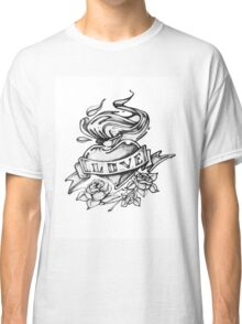 Love pencil drawn heart Classic T-Shirt