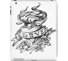 Love pencil drawn heart iPad Case/Skin