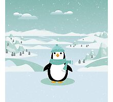 AFE Christmas Penguin Photographic Print