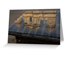 Reflecting on Noto and the Beautiful Sicilian Baroque Style Greeting Card