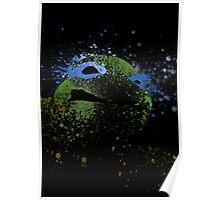 Paint Splatter TMNT : Leonardo Poster