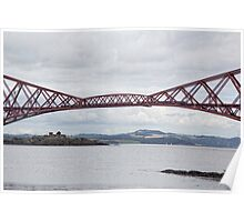 Forth Rail Bridge and Inch Garvie Poster