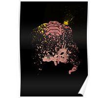 Paint Splatter TMNT : Krang Poster