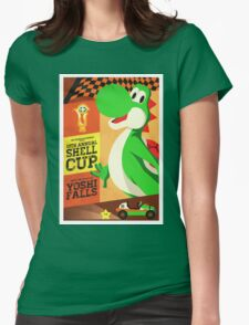 Yoshi Mario Kart Womens Fitted T-Shirt