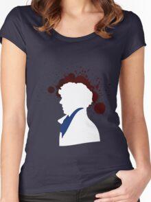 Fallen Sherlock (dark) Women's Fitted Scoop T-Shirt