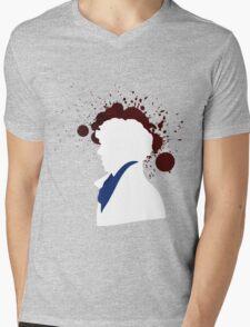 Fallen Sherlock (dark) Mens V-Neck T-Shirt