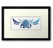 Dice 20 Coat of Arms Framed Print
