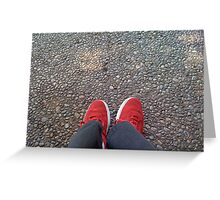 Asphalt and Shoes Greeting Card