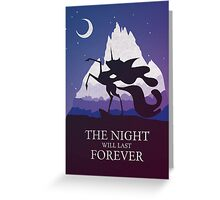 The Night Will Last Forever - Nightmare Moon Print Greeting Card