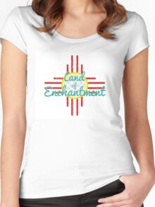 The Land of Enchantment  Women's Fitted Scoop T-Shirt