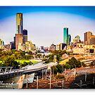 Melbourne Skyline #12 by James Millward