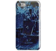Blue Neon Train iPhone iPhone Case/Skin