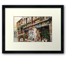 Graffiti Artists at Work in Hosier Lane Melbourne  Framed Print