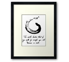 Lessons From the Earth Framed Print