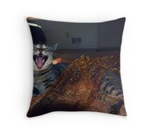 The Beast Has Been Trapped!!! Throw Pillow