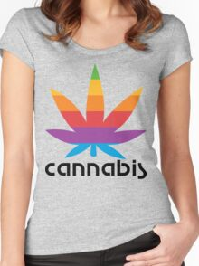 CANNABIS LEAF Women's Fitted Scoop T-Shirt