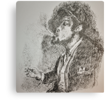 Slouched and Smoking  Canvas Print