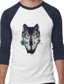 Wolf With a Rose Men's Baseball ¾ T-Shirt