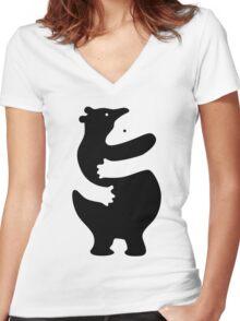 Bear hugs Women's Fitted V-Neck T-Shirt