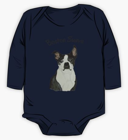 Boston Terrier Suave One Piece - Long Sleeve