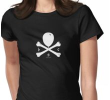 Balloon & Crossbones, White Womens Fitted T-Shirt