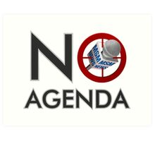 No Agenda Logo - Small Prints and Stretched Canvas Art Print