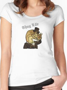 Thug Life Dinosaur Women's Fitted Scoop T-Shirt