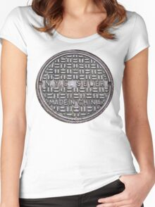 NYC SEWER MADE IN CHINA Women's Fitted Scoop T-Shirt