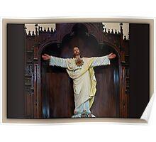 <º))))>< CHURCH STATUE<º))))><  Poster