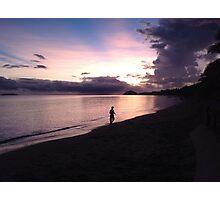 Sunset hues in Fiji Photographic Print
