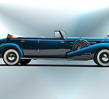 1934 Cadillac Convertible Sedan I by DaveKoontz